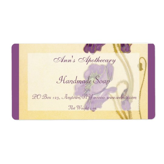 Handmade Soap Label Shipping Label