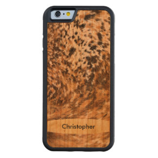 Handmade Texas Long Horn Cowhide Pattern Custom Cherry iPhone 6 Bumper Case