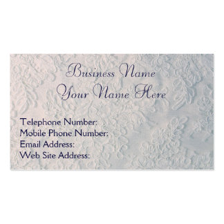 Handmade White Lace-effect Business Cards