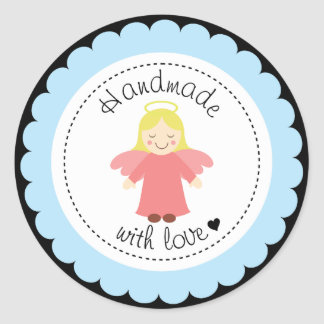 Handmade With Love Stickers | Zazzle.co.uk