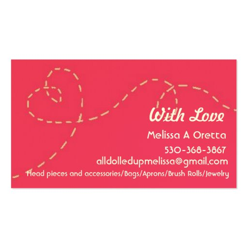 Handmade with love business card template