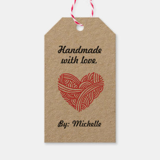 Handmade with Love / Care Instructions Crafts Gift Tags