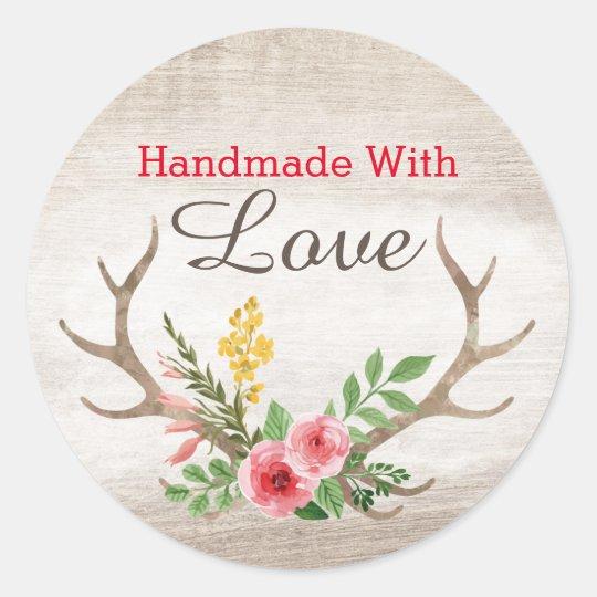 Handmade With Love Rustic Deer Antler Bohemian Classic