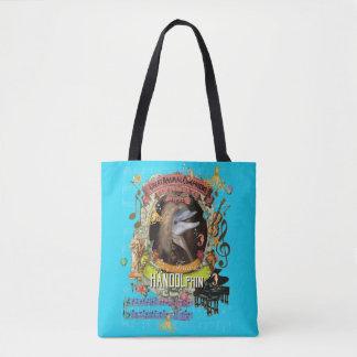 Handolphin Funny Dolphin Animal Composer Handel Tote Bag