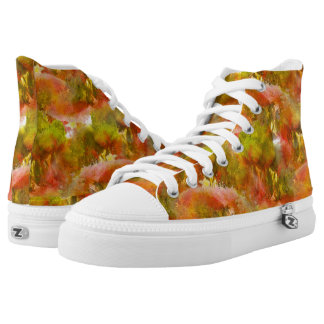 Handpainted Colorful Abstract Pattern Hightops