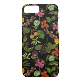 Handpainted Colorful Exotic Tropical Fruit Pattern iPhone 7 Case