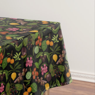 Handpainted Colorful Exotic Tropical Fruit Pattern Tablecloth
