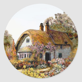 Handpainted Country Cottage Sticker