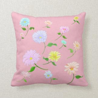 Handpainted Daisy Cotton Cushion