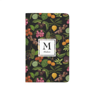 Handpainted Exotic Tropical Fruits Monogram Journal
