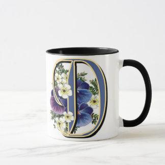 Handpainted Pansy IInitial - D Mug