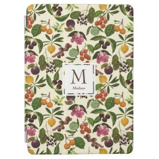Handpainted Rustic Tropical Fruits Monogram iPad Air Cover