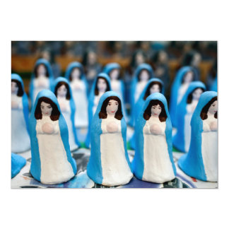 Handpainted Virgin Mary figurines Personalized Invitation