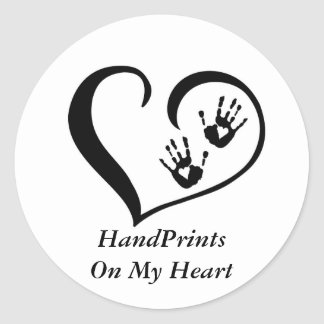 HandPrint logo stickers