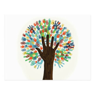 Handprint Tree Postcard