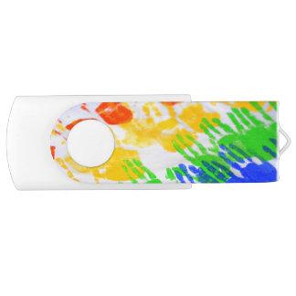 Handprint USB Swivel USB 2.0 Flash Drive
