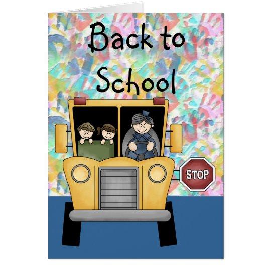 Handprints & School Bus Back to School Card