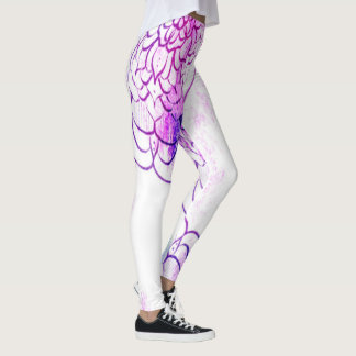 Handrawn Mandala Watercolor. Leggings