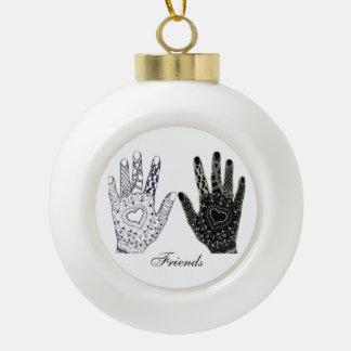 Hands, a Symbol of Loving Friends Ornaments