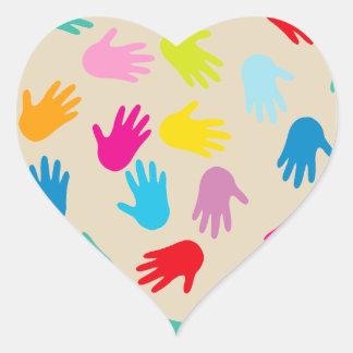 Hands around the world stickers