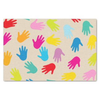 Hands around the world tissue paper