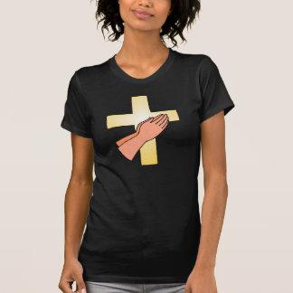 Hands At Cross Womens T-Shirt