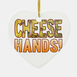 Hands Blue Cheese Christmas Ornament