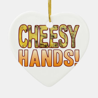 Hands Blue Cheesy Christmas Ornament