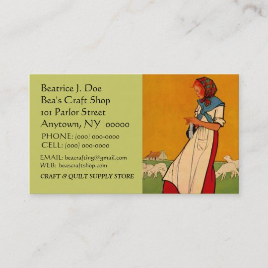 Knitting business cards business card printing zazzle uk hands busy needlework knit crochet business card colourmoves