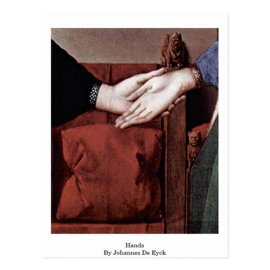 Hands,By Johannes De Eyck Postcard