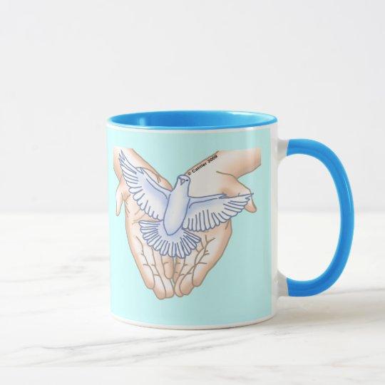 Hands Dove Mug