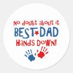 Hands Down Best Dad Sticker