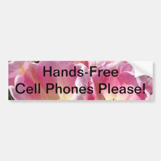 Hands-Free Cell Phones Please bumper sticker