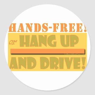 HANDS FREE CROPPED CLASSIC ROUND STICKER