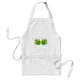 Hands Green The MUSEUM Zazzle Gifts Aprons