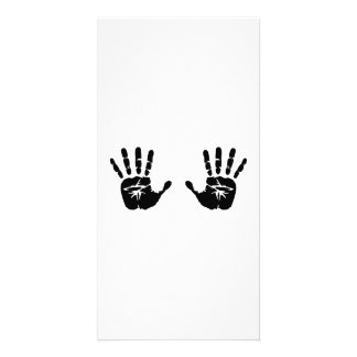 Hands handprints personalized photo card