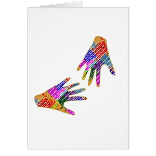 HANDS Henna Friendship HUG Card