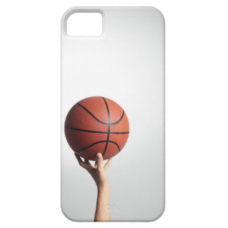 Hands holding a basketball,hands close-up iPhone 5 case