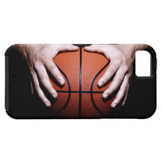 Hands holding a basketball iPhone 5 covers
