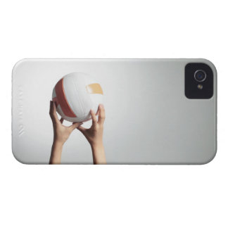 Hands holding a volleyball,hands close-up iPhone 4 cover