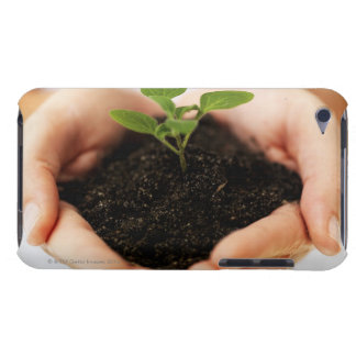 Hands holding sapling iPod touch cover