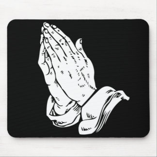 Hands In Prayer Mouse Pad