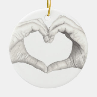 Hands in Shape of a Heart Christmas Ornament