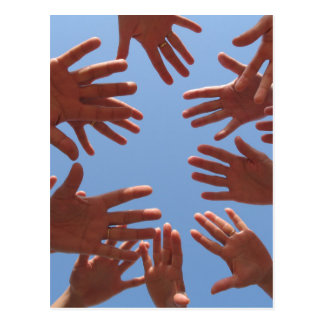 Hands In - Teamwork Postcard