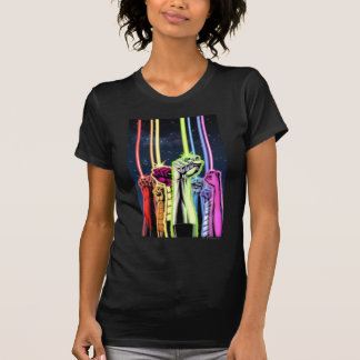 Hands in the air with rings -Color T-Shirt