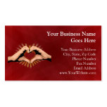 Hands in the Shape of a Heart, Love Design Business Card