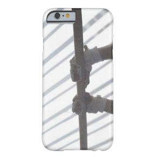 Hands of a male gymnast gripping a horizontal barely there iPhone 6 case
