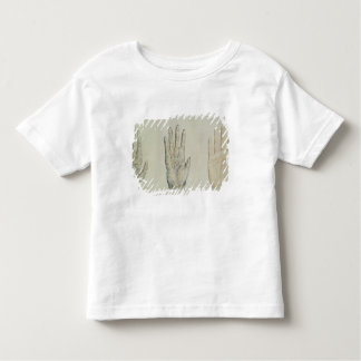 Hands of a primate and a human toddler T-Shirt