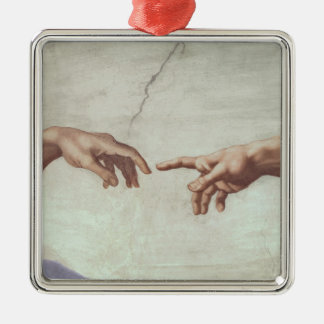 Hands of God and Adam Christmas Ornament