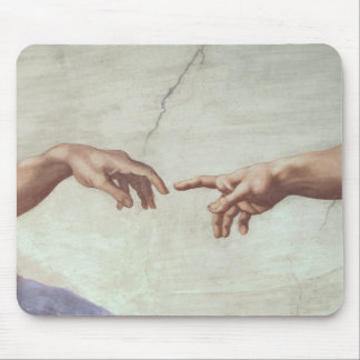 Hands of God and Adam Mouse Mat